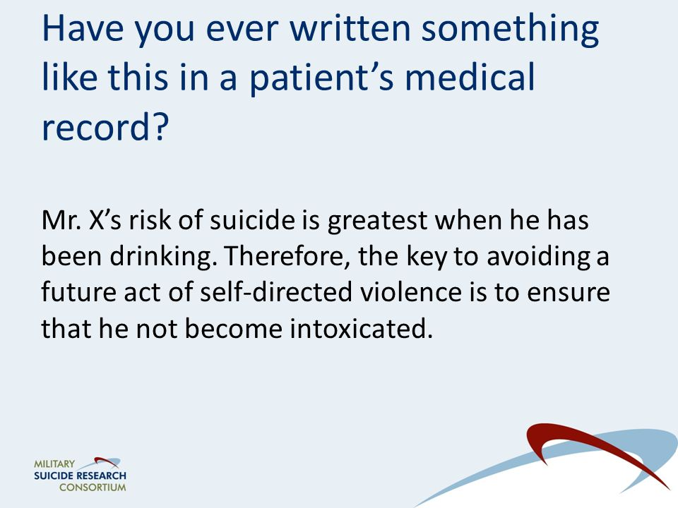 Have you ever written something like this in a patient's medical record.