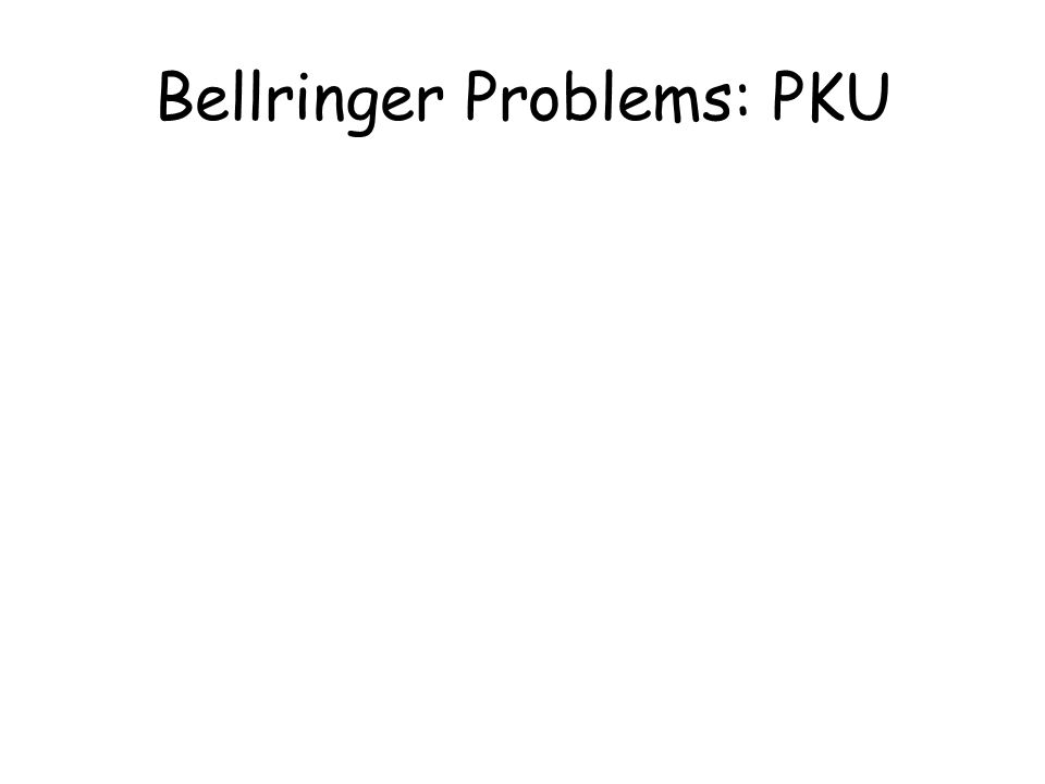 Bellringer Problems: PKU