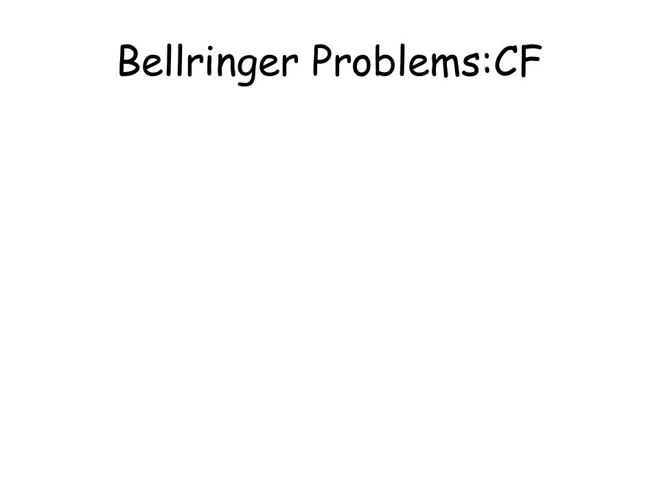 Bellringer Problems:CF