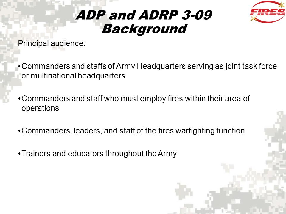 Field Artillery and Fire Support Planning Fire support planning is accomplished using targeting and the running estimate.