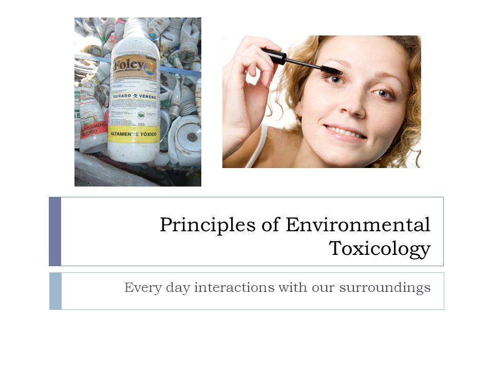 Principles of Environmental Toxicology Every day interactions with our surroundings