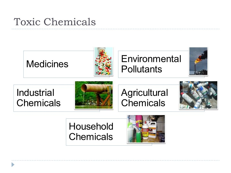 Toxic Chemicals Environmental Pollutants Medicines Agricultural Chemicals Industrial Chemicals Household Chemicals
