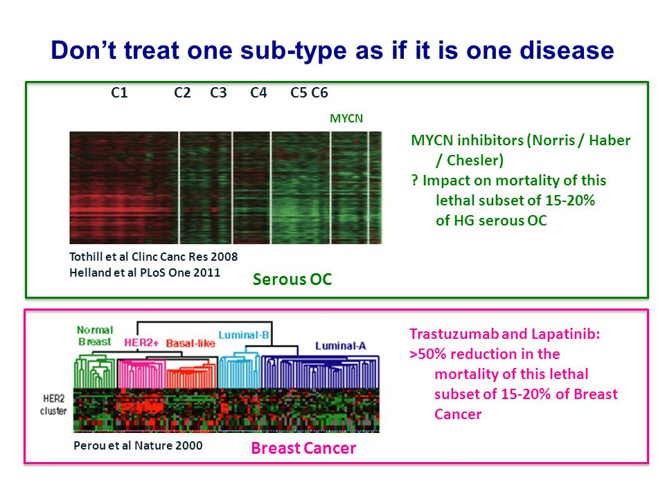 Which means we need to design smaller trials that are tissue-driven to match a woman's ovarian cancer to the treatment most likely to address the drivers and susceptibilities of her cancer What are the issues here.