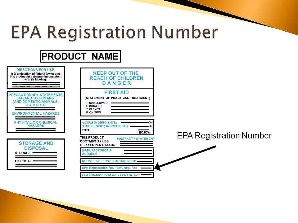 EPA Registration Number