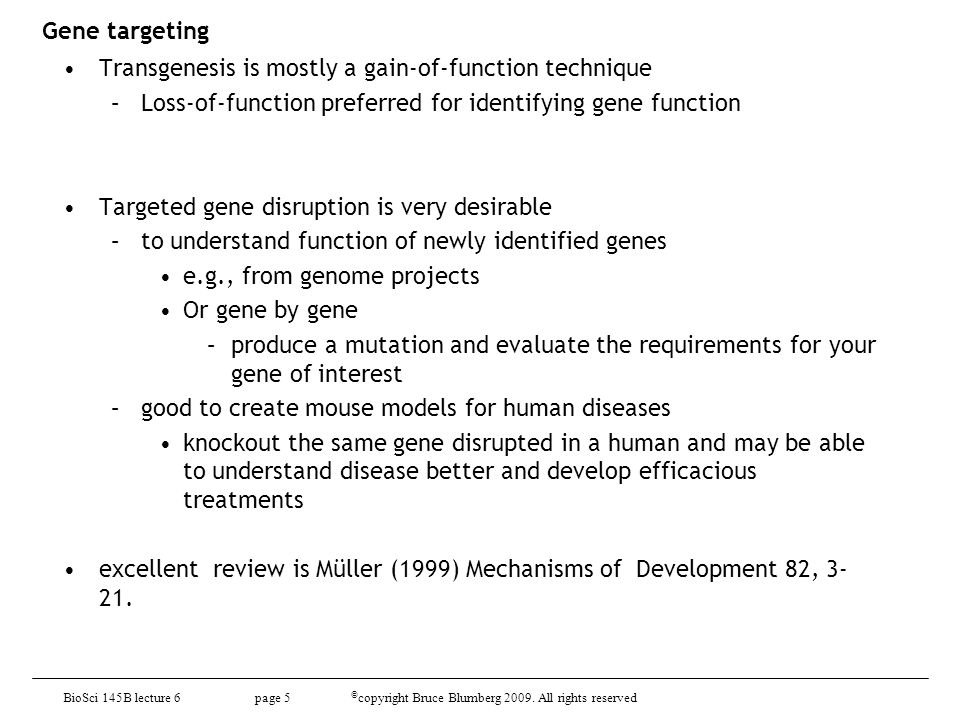 BioSci D145 lecture 9 page 26 © copyright Bruce Blumberg 2010.