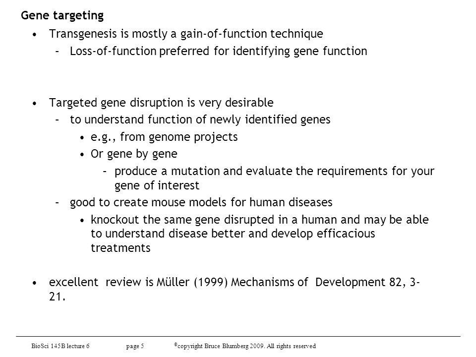 BioSci 145B lecture 6 page 6 © copyright Bruce Blumberg 2009.