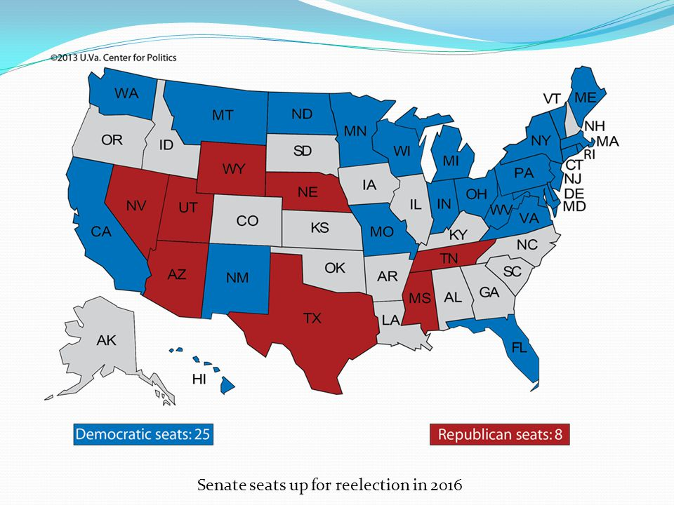 Senate seats up for reelection in 2016