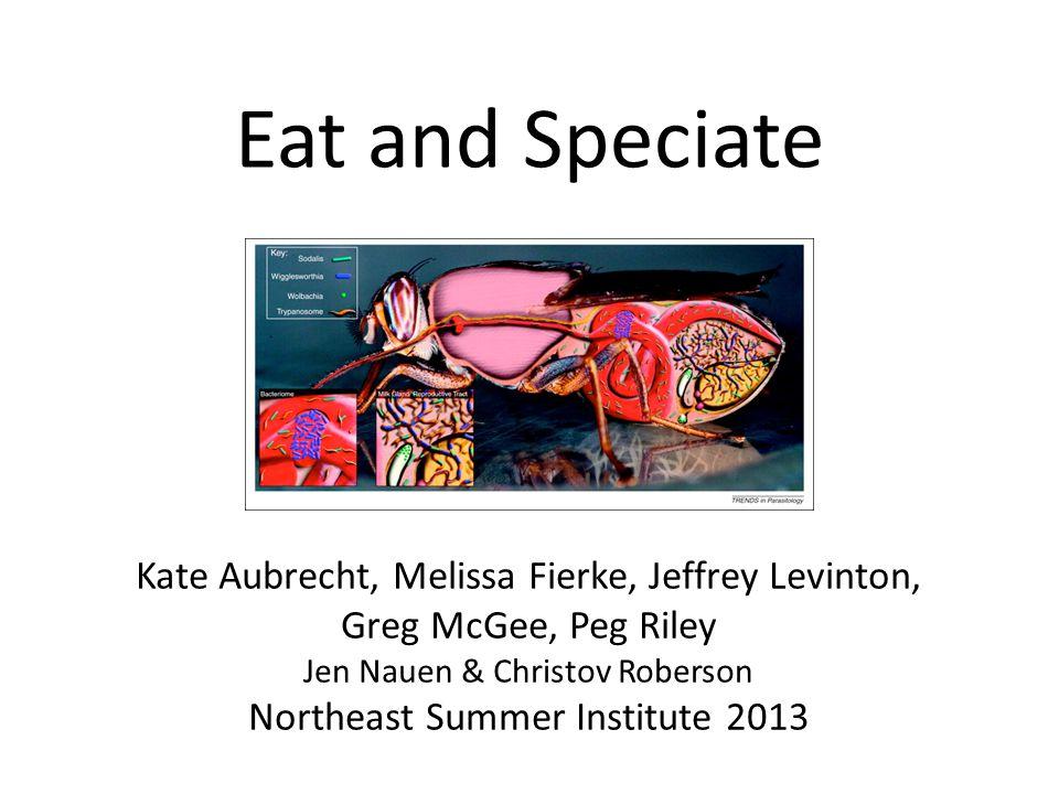 Eat and Speciate Kate Aubrecht, Melissa Fierke, Jeffrey Levinton, Greg McGee, Peg Riley Jen Nauen & Christov Roberson Northeast Summer Institute 2013