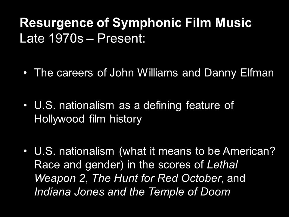 The careers of John Williams and Danny Elfman U.S.