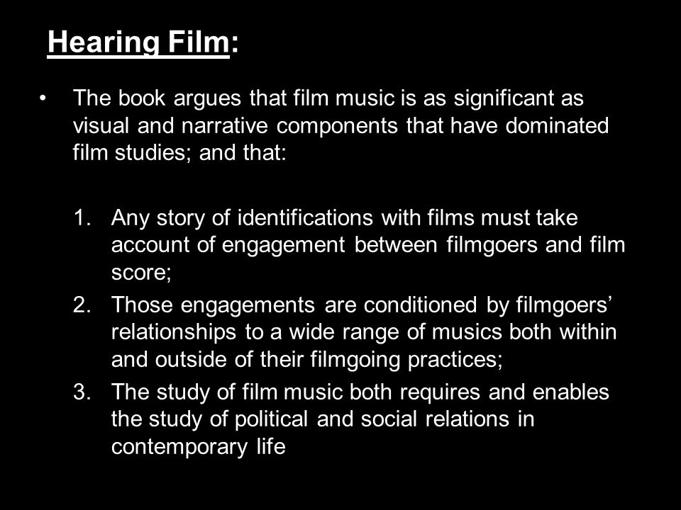 Why study contemporary film music?