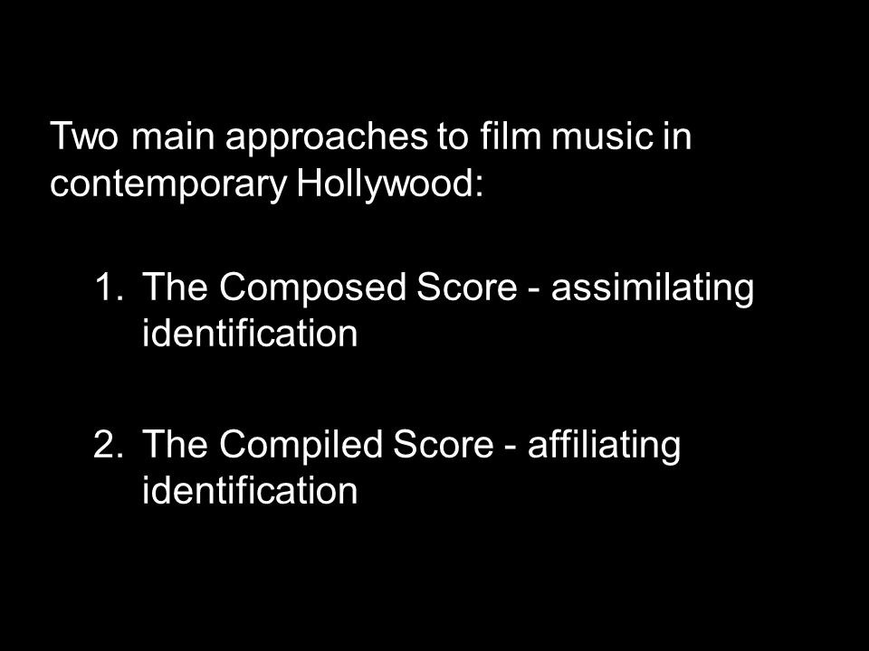 How music works in film.