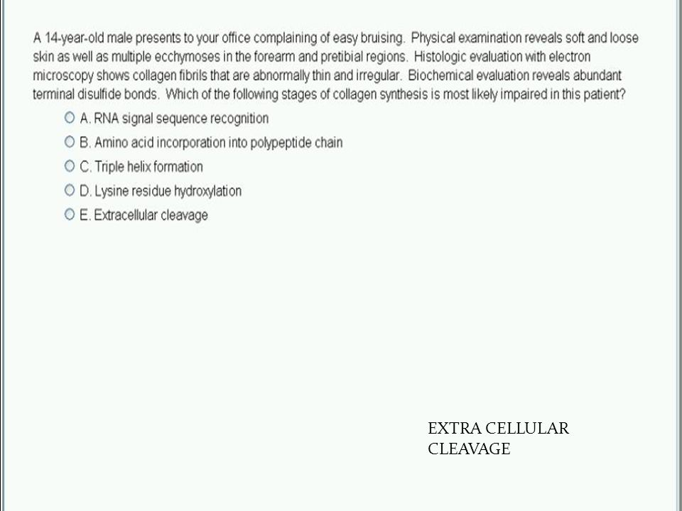 35 EXTRA CELLULAR CLEAVAGE
