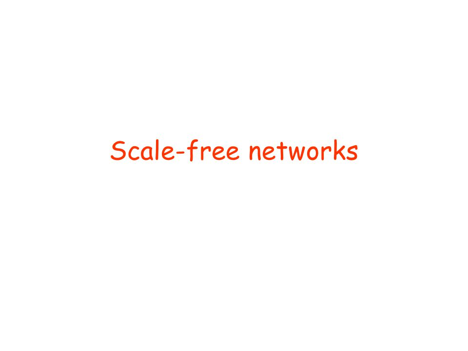 Scale-free networks