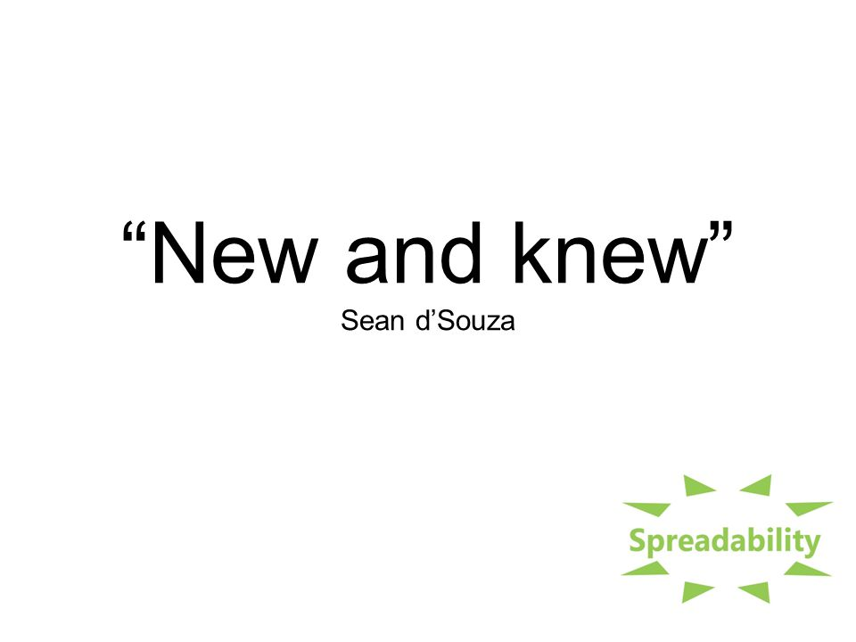 New and knew Sean d'Souza