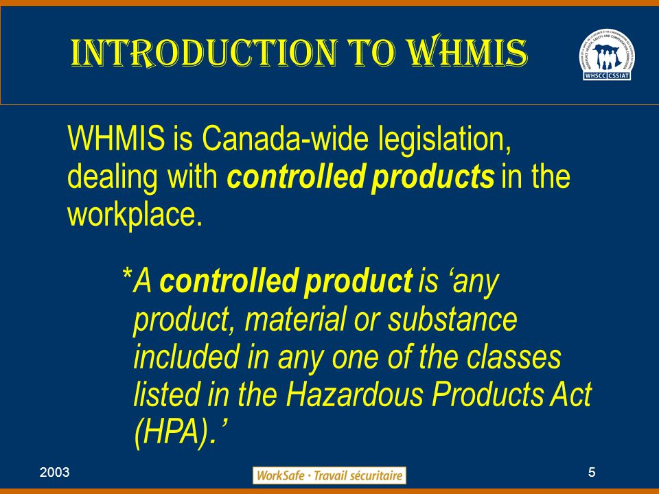 2003 6 Hazardous Classes Under HPa Class A: Compressed Gas Class B: Flammable and Combustible Material Class C: Oxidizing Material Class D: Poisonous and Infectious Material Class E: Corrosive Material Class F: Dangerously Reactive Material