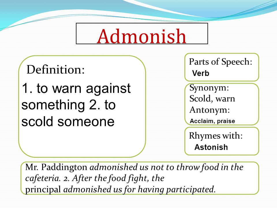 Anonymous Rhymes with: Synonym: Antonym: Parts of Speech: Definition: The author of the book remained anonymous even after the book won countless awards.