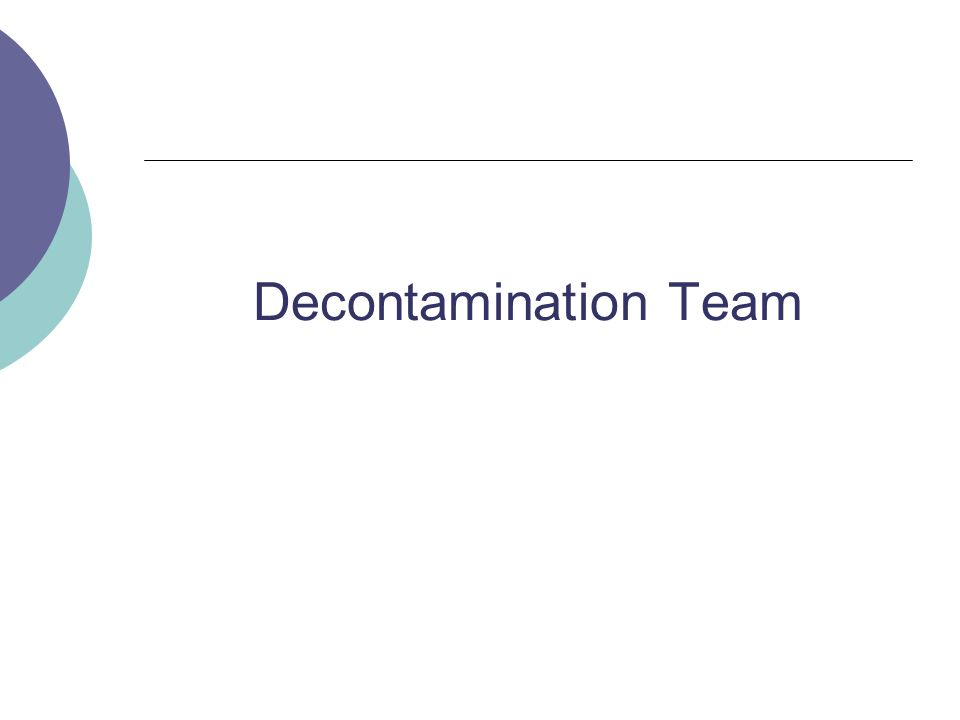 Decontamination Team