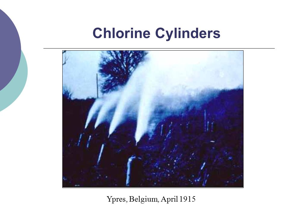 Chlorine Cylinders Ypres, Belgium, April 1915