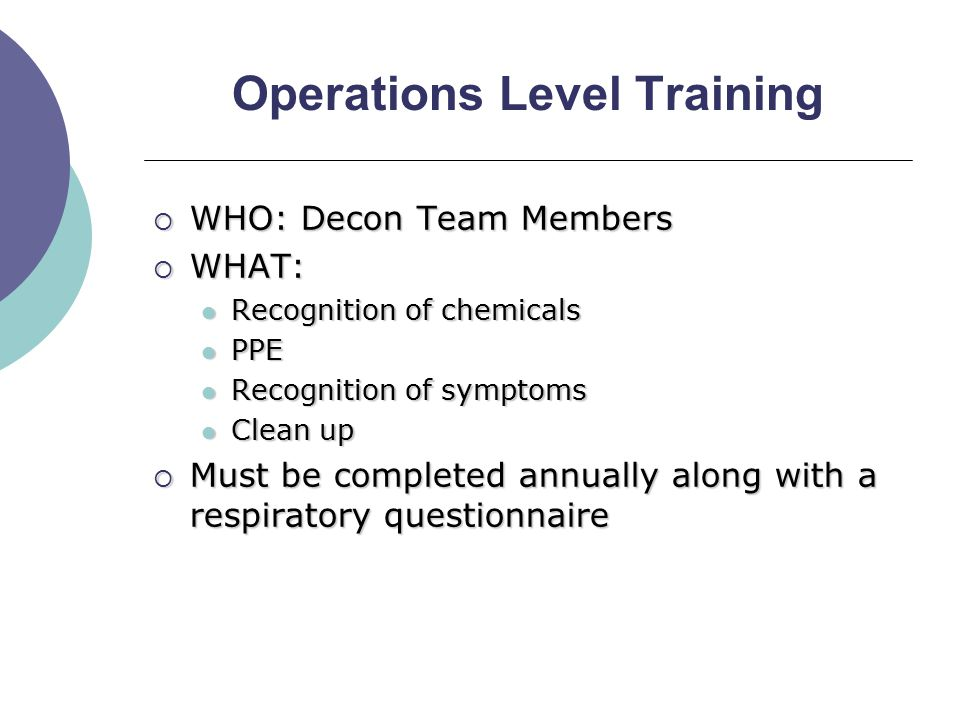 Notification System  Decon Team Leader OR YOUR HOSPITAL SPECIFIC TITLE ENTER BRIEF SUMMARY OF RESPONSIBILITIES ENTER BRIEF SUMMARY OF RESPONSIBILITIES