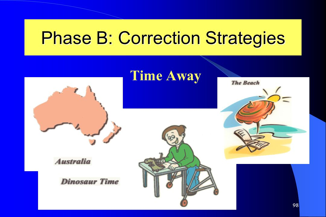 98 Phase B: Correction Strategies Time Away