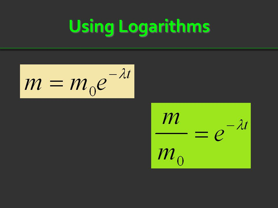 Using Logarithms