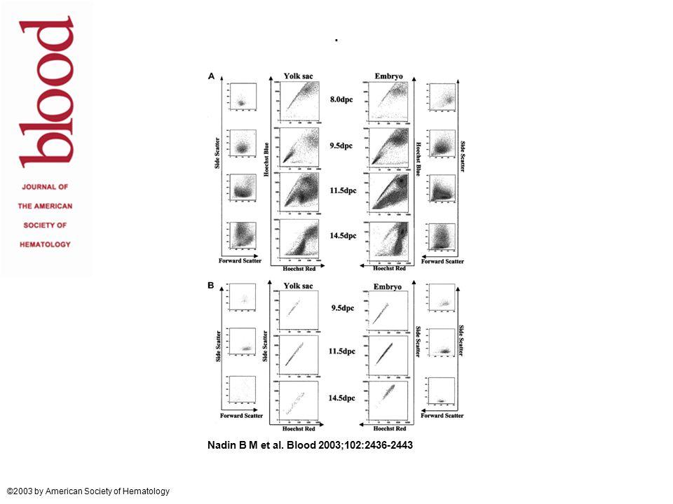 . Nadin B M et al. Blood 2003;102:2436-2443 ©2003 by American Society of Hematology