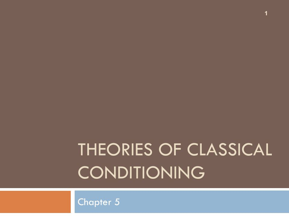 THEORIES OF CLASSICAL CONDITIONING Chapter 5 1