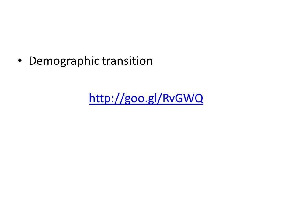 Demographic transition http://goo.gl/RvGWQ