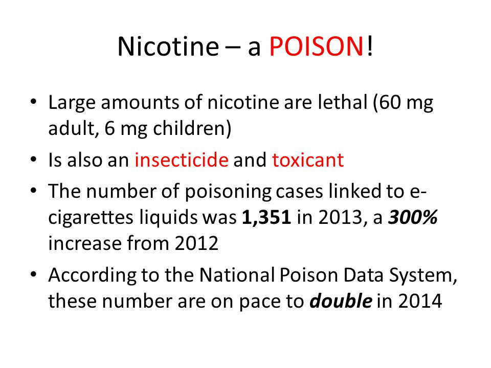 Nicotine – a POISON.