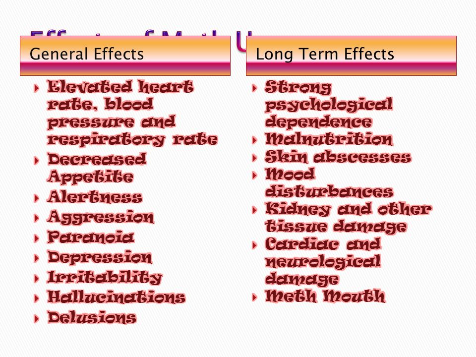 General EffectsLong Term Effects