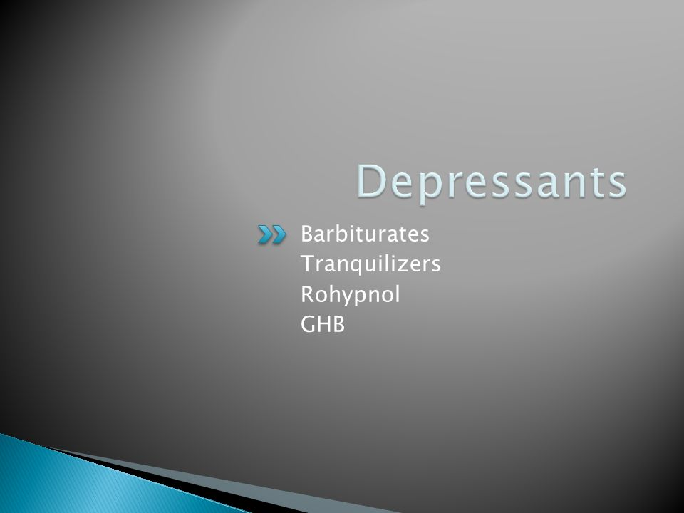 Barbiturates Tranquilizers Rohypnol GHB