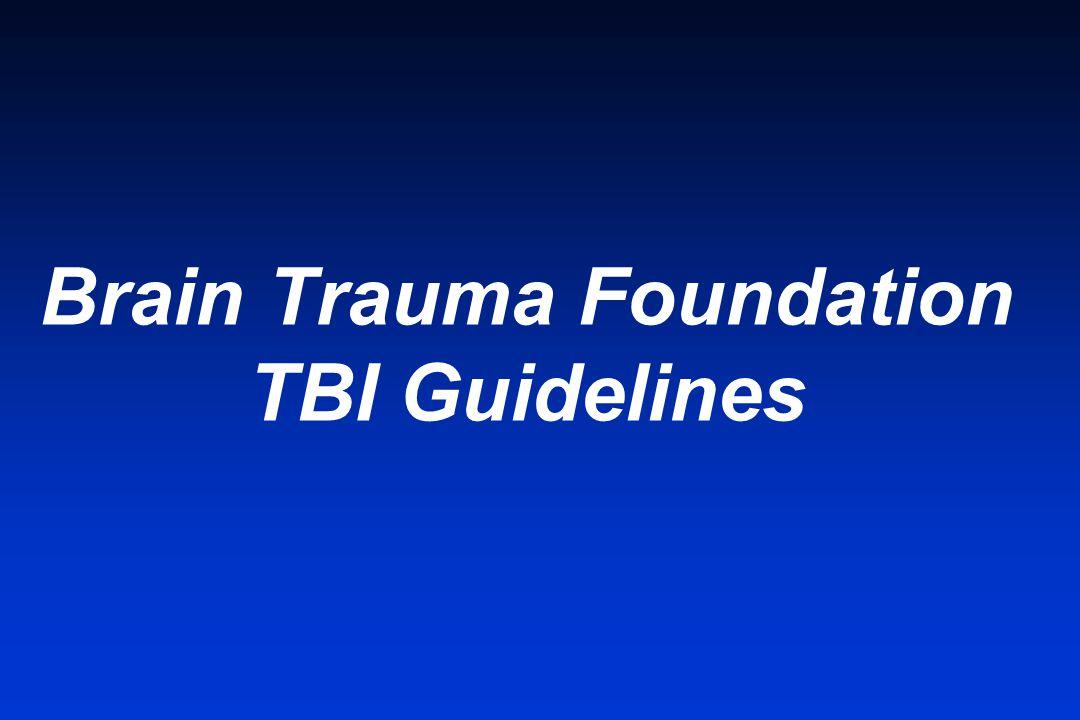 Brain Trauma Foundation TBI Guidelines