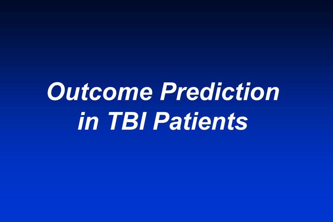 Outcome Prediction in TBI Patients