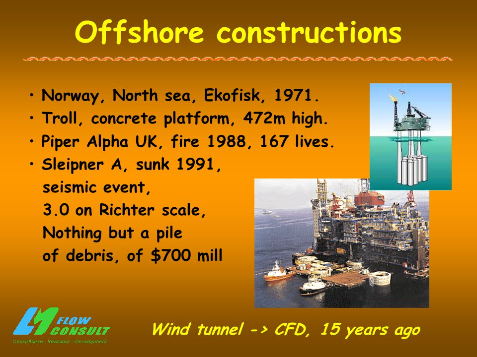 Offshore constructions Norway, North sea, Ekofisk, 1971.