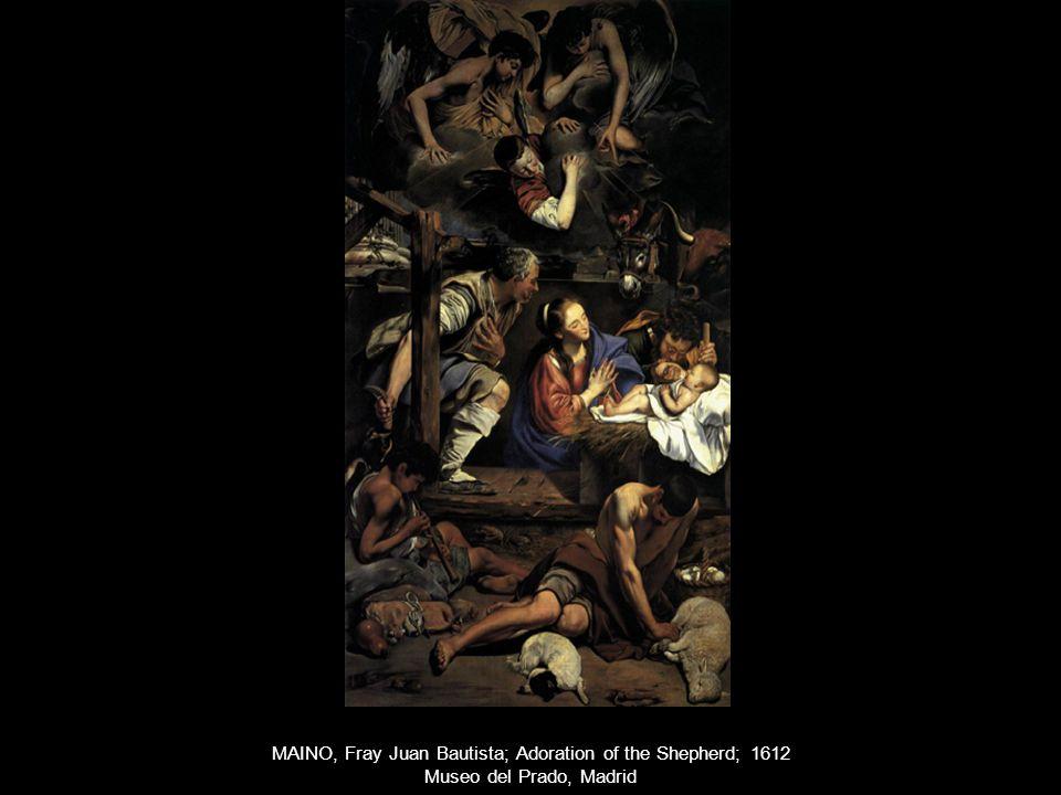 MAINO, Fray Juan Bautista; Adoration of the Shepherd; 1612 Museo del Prado, Madrid