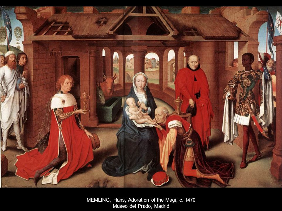 MEMLING, Hans; Adoration of the Magi; c. 1470 Museo del Prado, Madrid