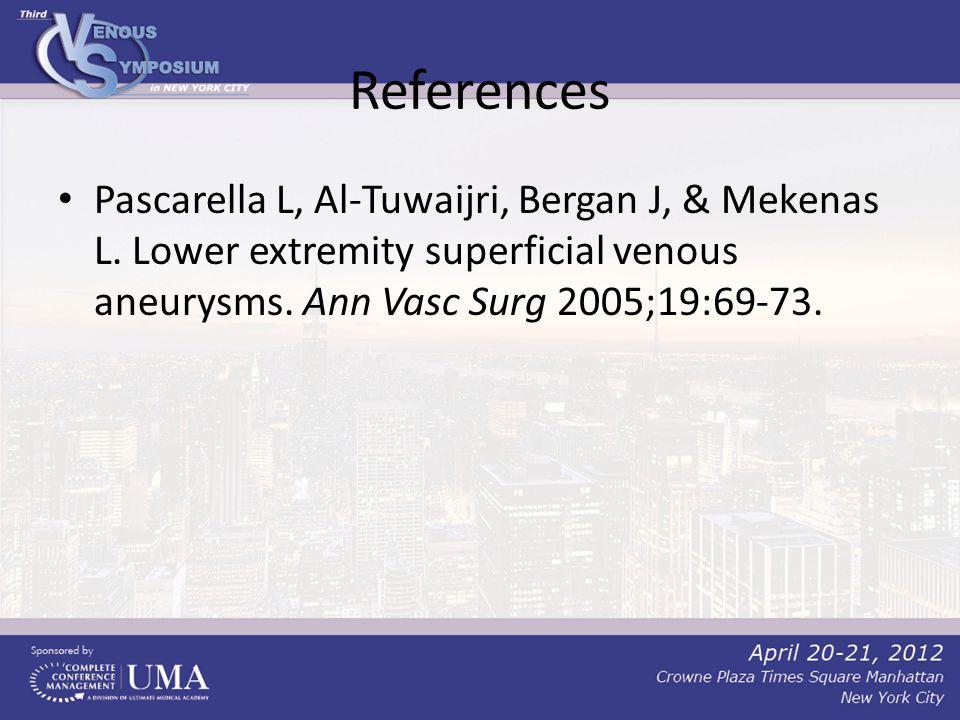 References Pascarella L, Al-Tuwaijri, Bergan J, & Mekenas L.