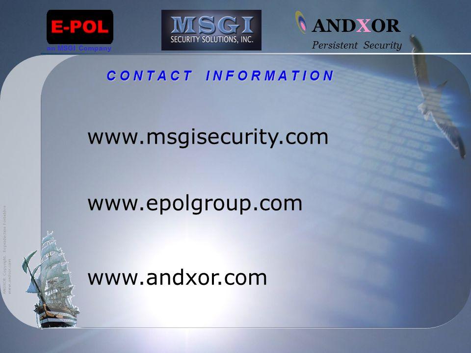 www.andxor.com ANDXOR Copyright.