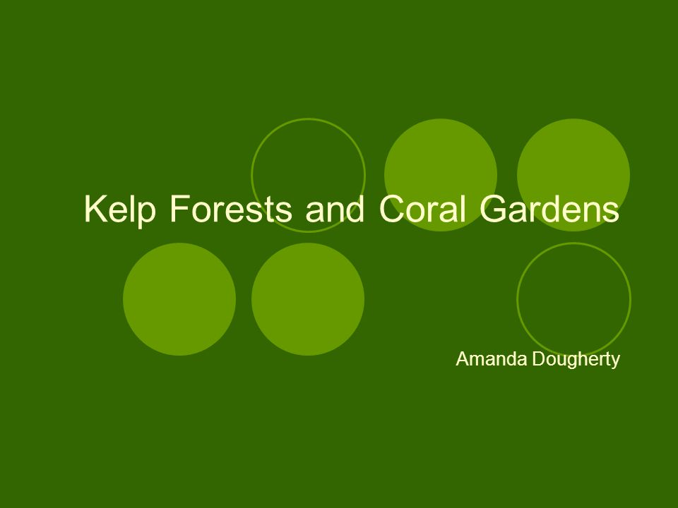 Kelp Forests and Coral Gardens Amanda Dougherty