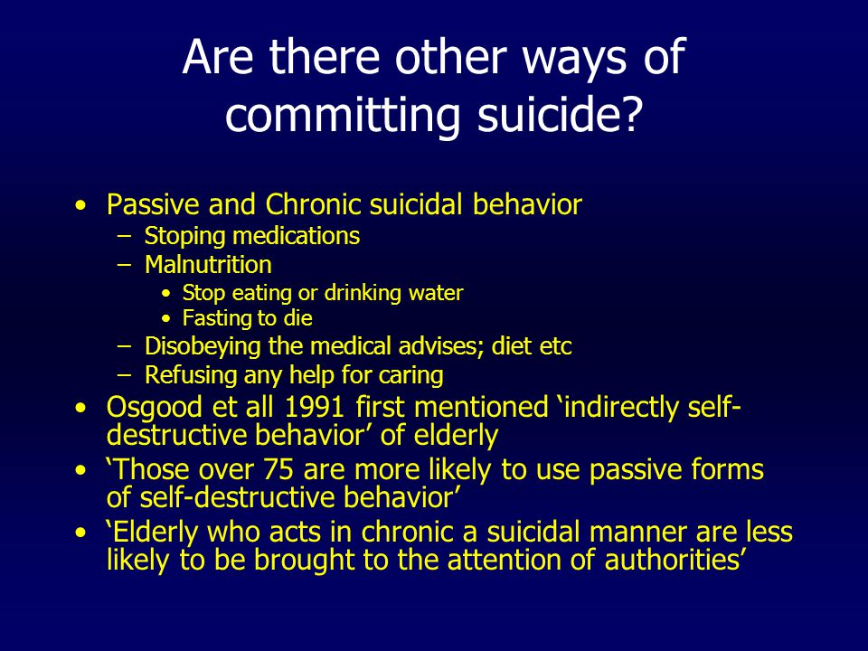 Are there other ways of committing suicide.