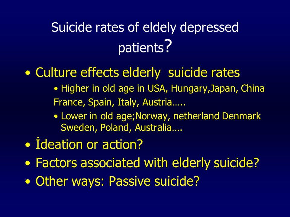 (İntihar etmeyi düşündüğünüz oluyor mu?) Do you ever think of the idea of suicide YES%TotalCHİ sq.SDp Young1136.730 X2X2 0.69310.405 old826.730Yates0.30810.579 (İntihar etmek için bir tasarı ya da planınız var mı?) Do you have plans for committing suicide.