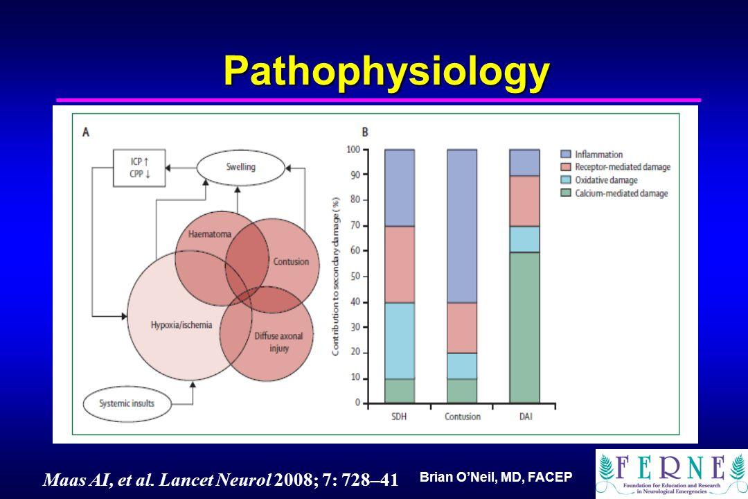 Brian O'Neil, MD, FACEP Pathophysiology Maas AI, et al. Lancet Neurol 2008; 7: 728–41