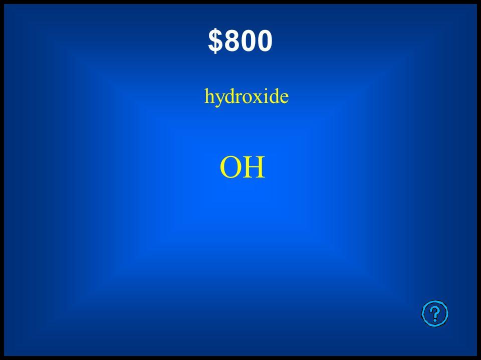 $400 ammonium NH 4