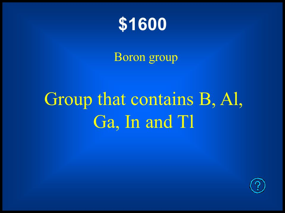 $1200 Alkali metals Group that contains lithium, sodium, potassium, rubidium, cesium and francium