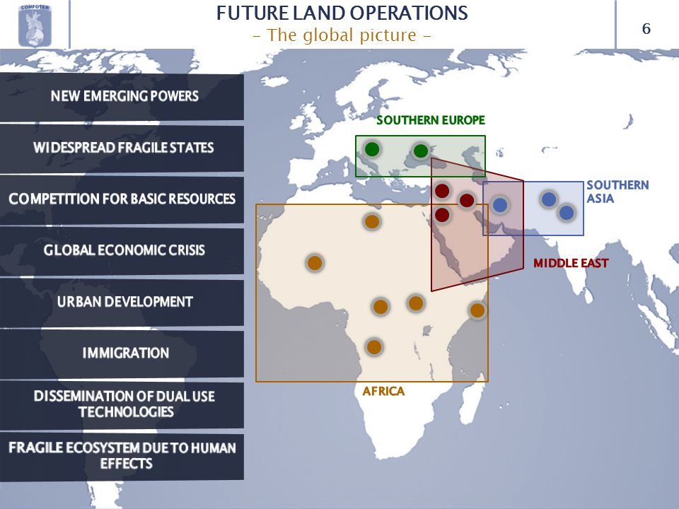 6 FUTURE LAND OPERATIONS - The global picture -