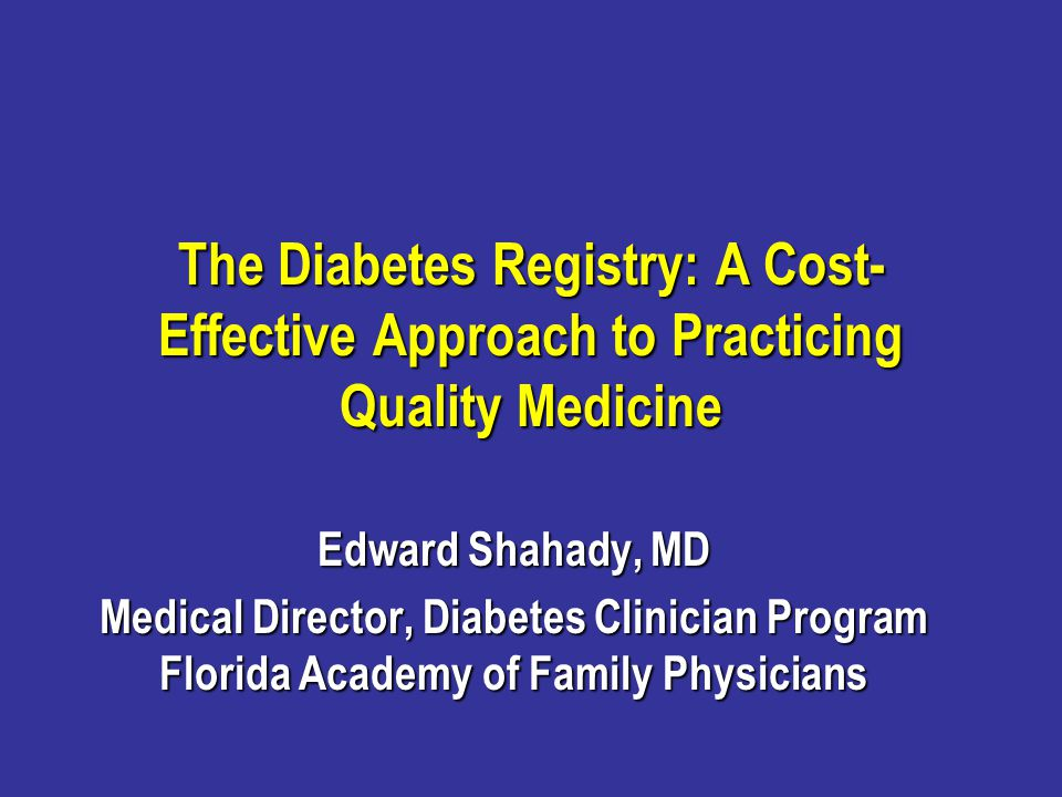 Registry Reports (Tools) Point of Care Reports for the clinician and the Patient - report cards Point of Care Reports for the clinician and the Patient - report cards Population-based Reports that identify Population-based Reports that identify Patients at increased risk because of increased HbA1c, LDL, B/P, non-HDL, triglyceridesPatients at increased risk because of increased HbA1c, LDL, B/P, non-HDL, triglycerides Patients who do not have documented annual recommendations or daily ASAPatients who do not have documented annual recommendations or daily ASA