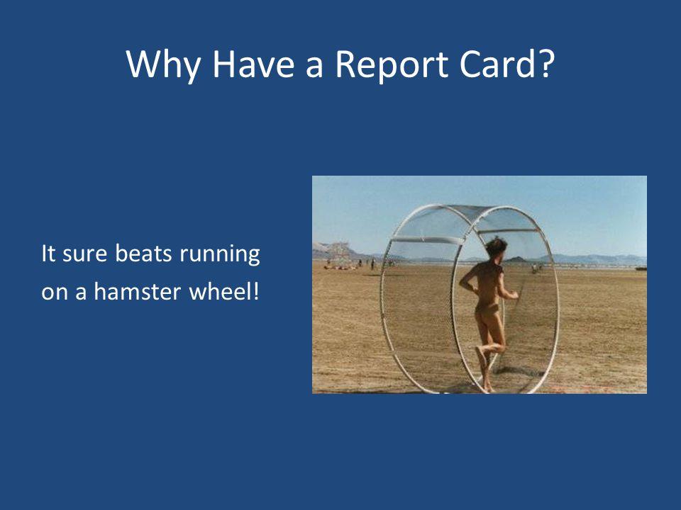 It sure beats running on a hamster wheel!