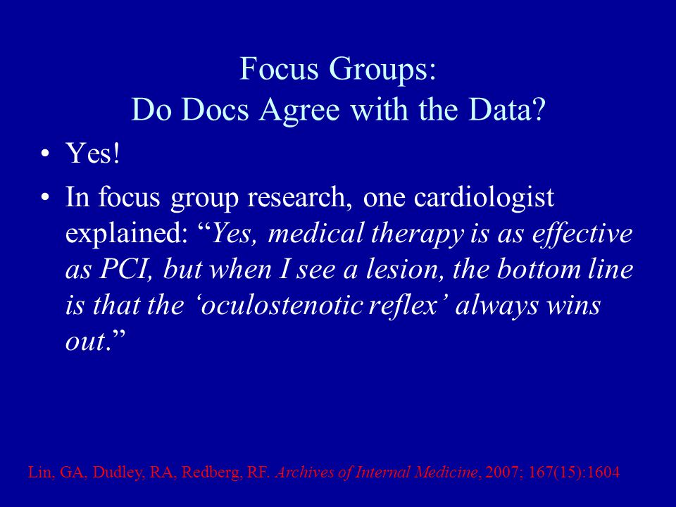 Do Clinicians Agree With the Data.