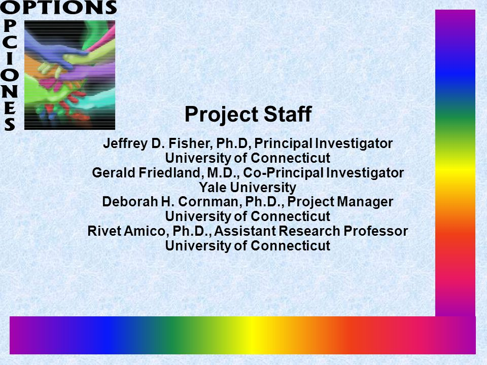 Project Staff Jeffrey D.