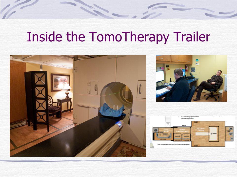 Inside the TomoTherapy Trailer
